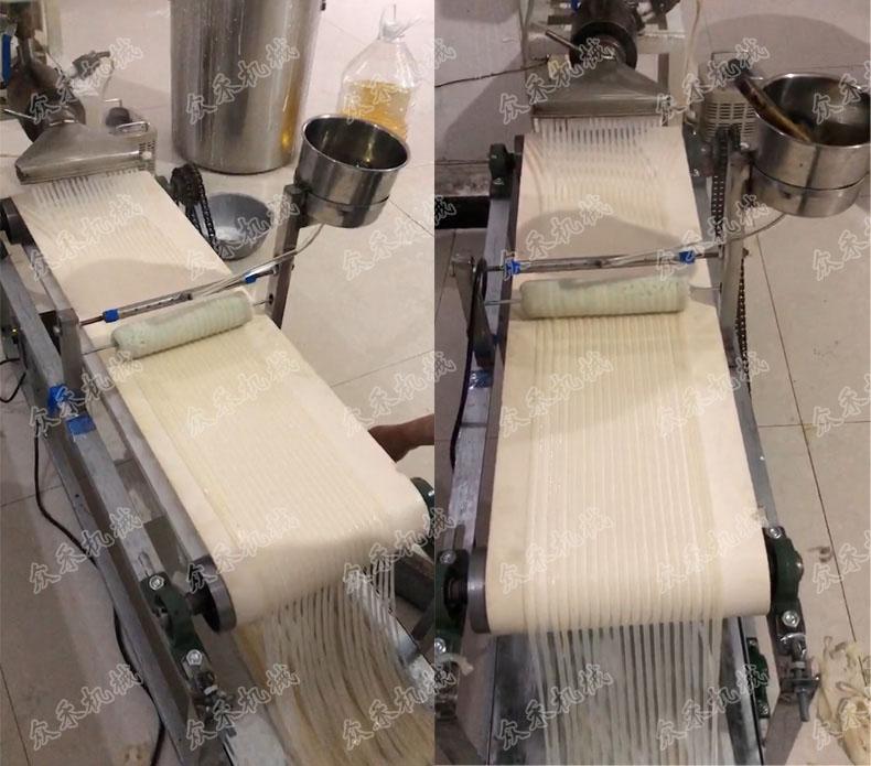 全自动折叠机生产面皮效果