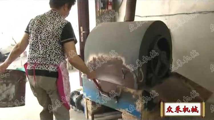 黑擀面皮制作方法生面浆糊熟化加工